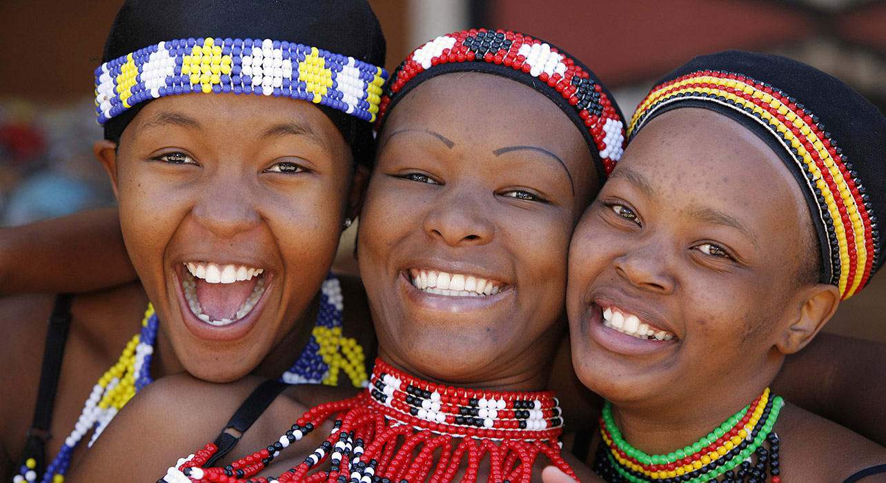 south africa similing women bead work