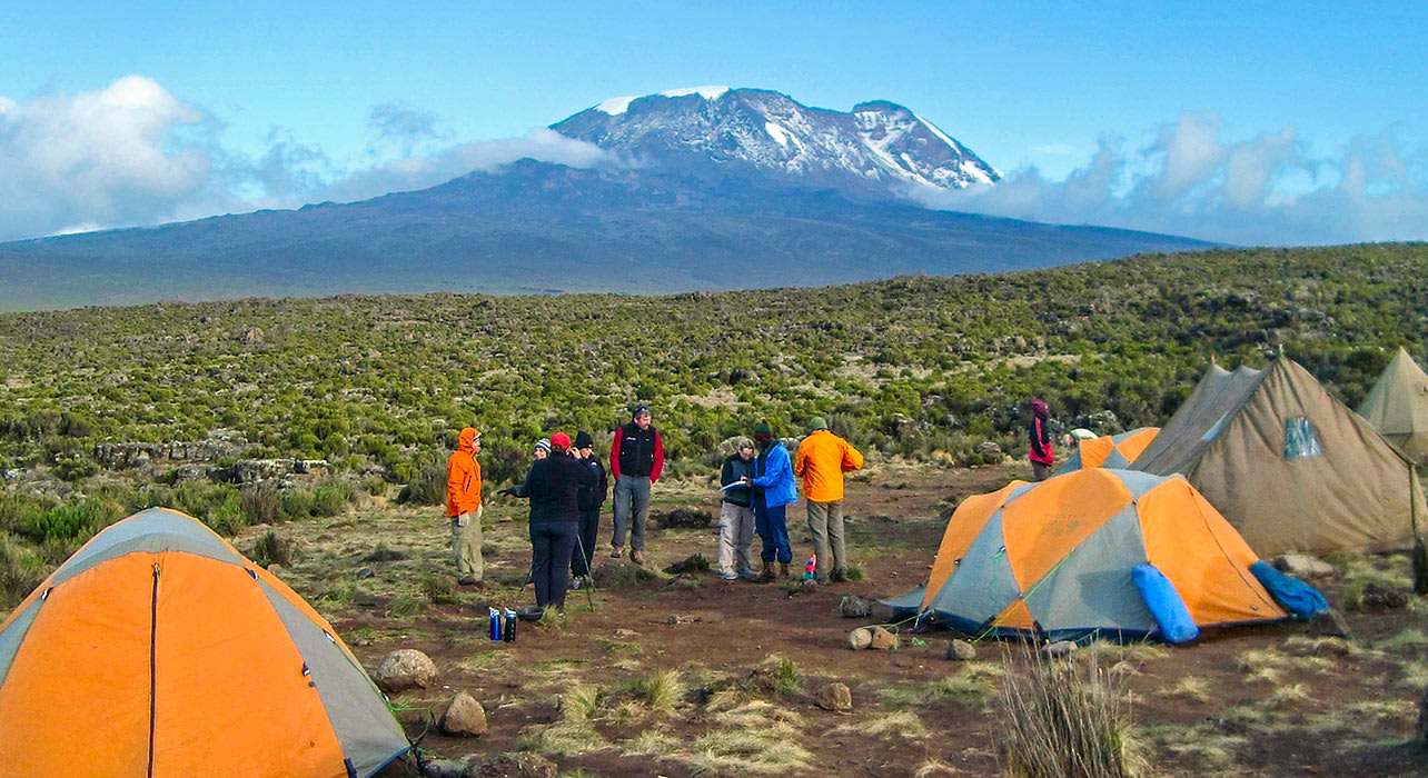kilimanjaro summit tents camp