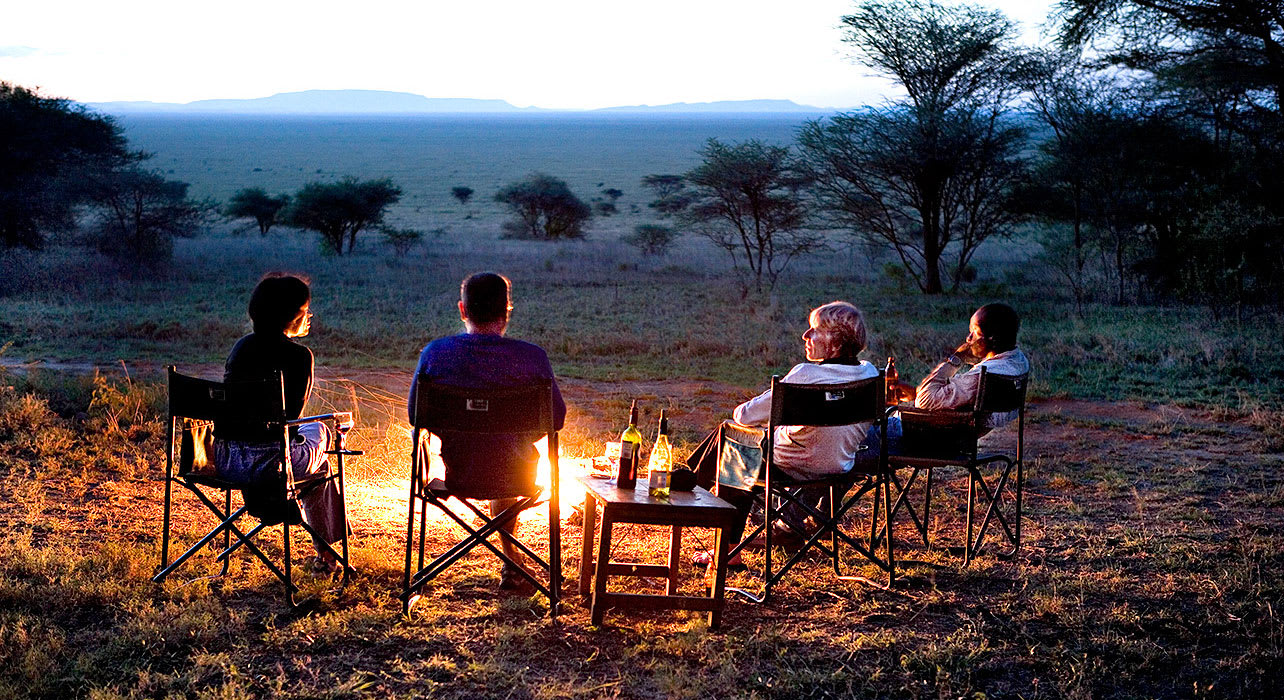5 slide tanzania safari sunset camp chairs pano