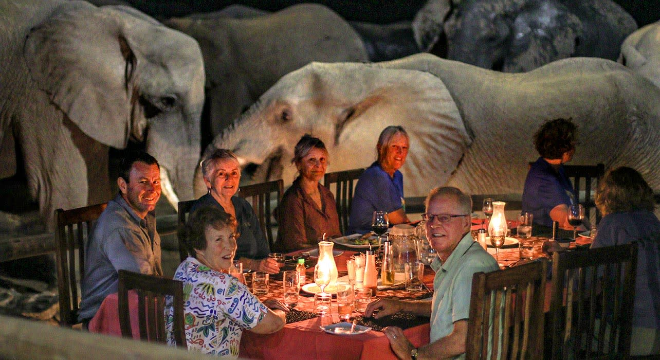 zimbabwe nehimba dinner with elephants