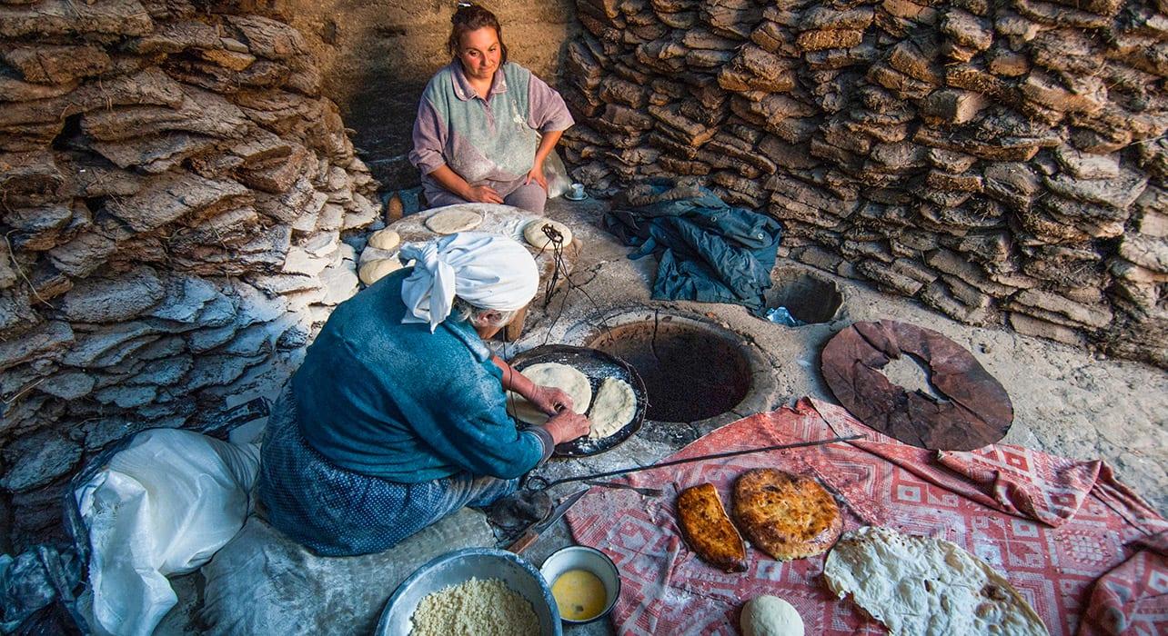 caspian odyssey women traditional cooking