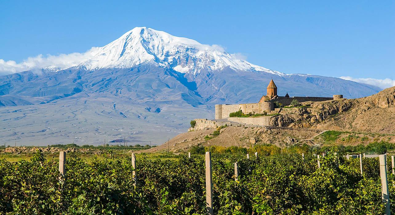 trans caucasus armenia azerbaijan svaneti snow capped mountain