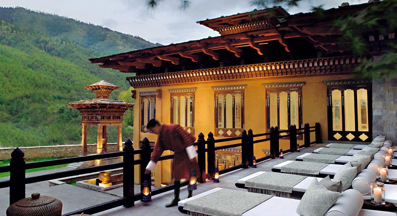 bhutan hotel comfort ouitside
