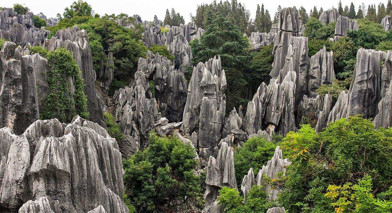 shilin rock forest geological park china kunming karst