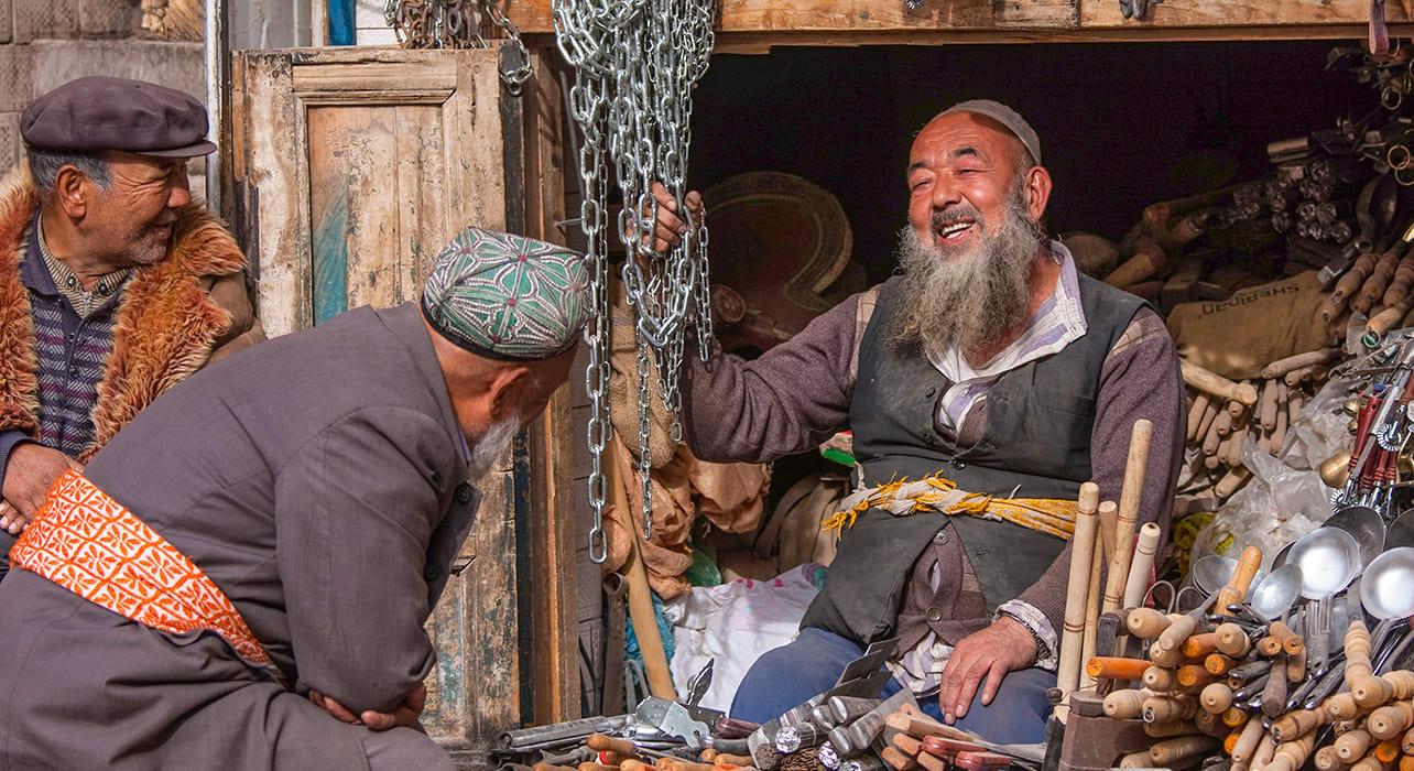 china kashgar uyghur market