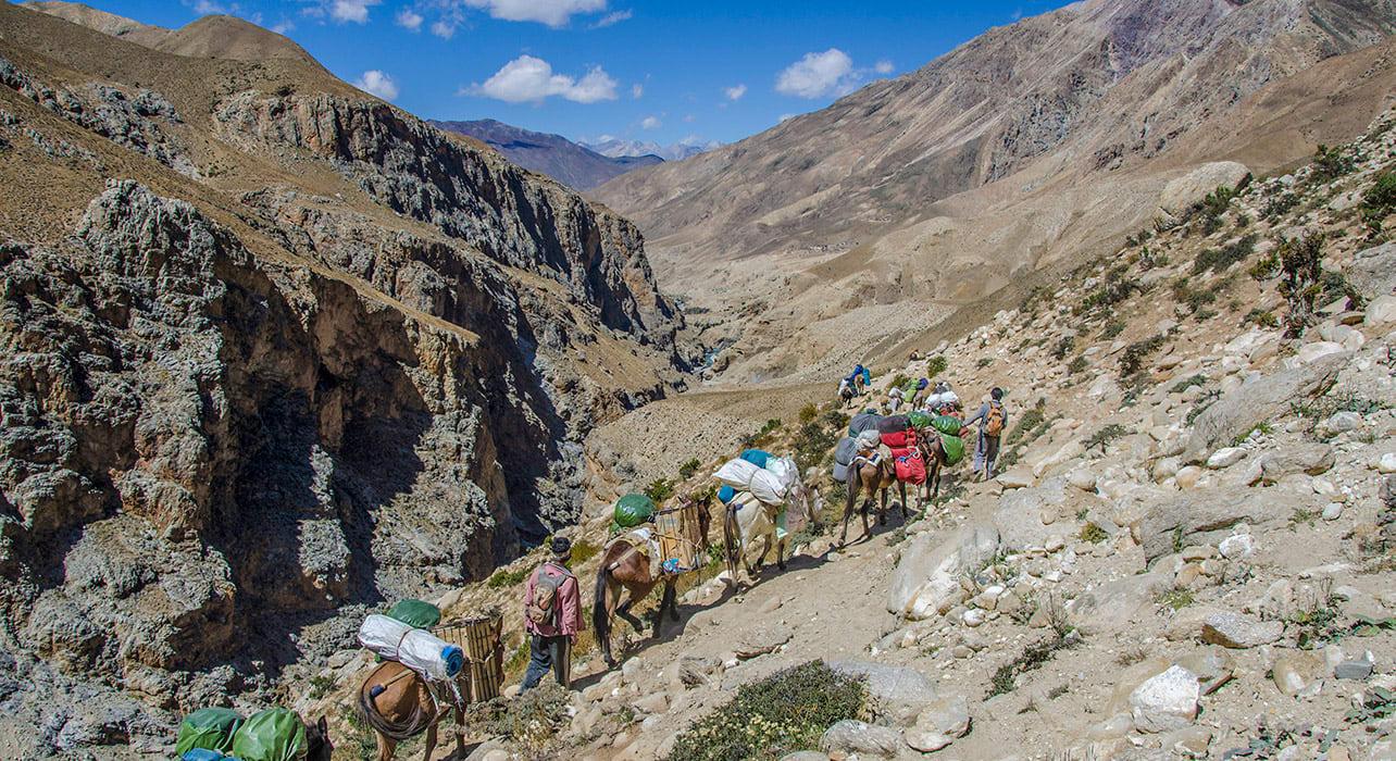 horse trail dolpo nepal