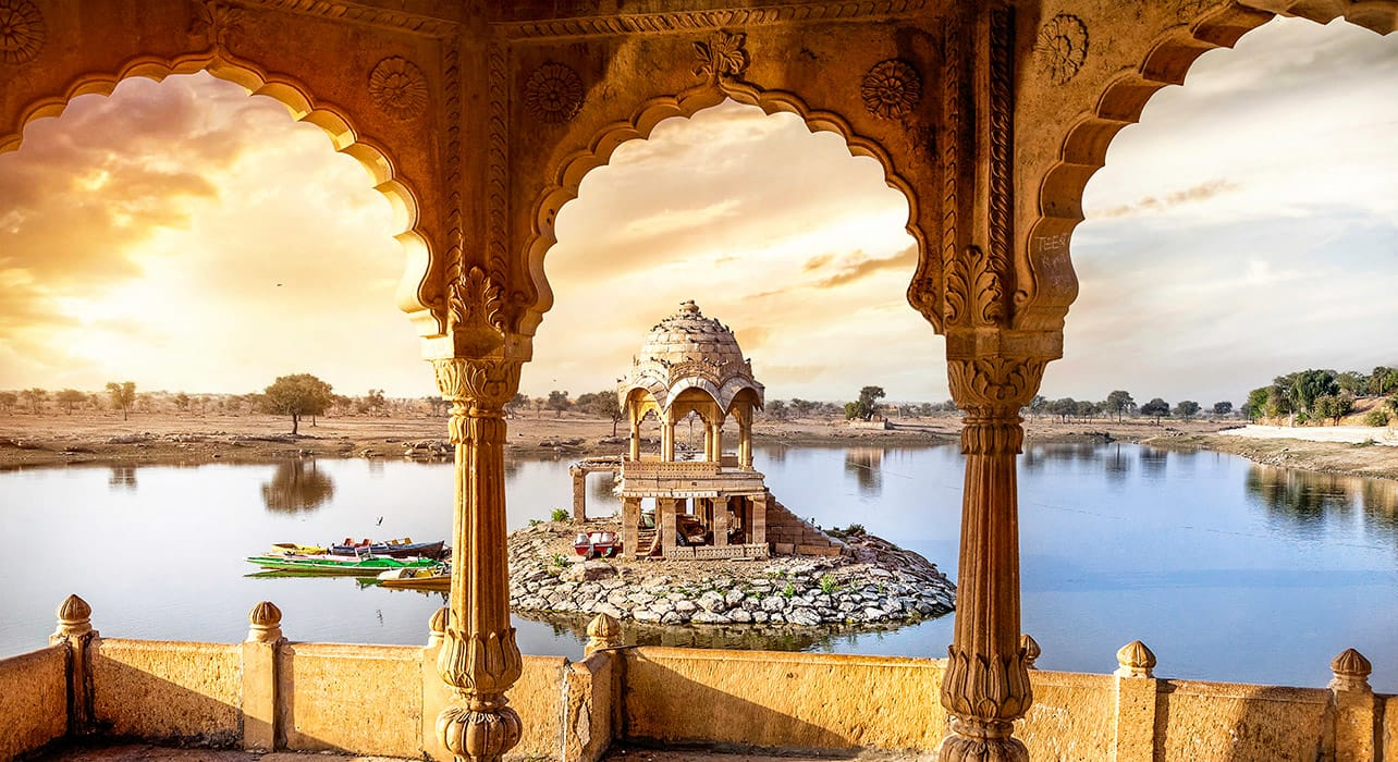 jaisalmer india lake shrine