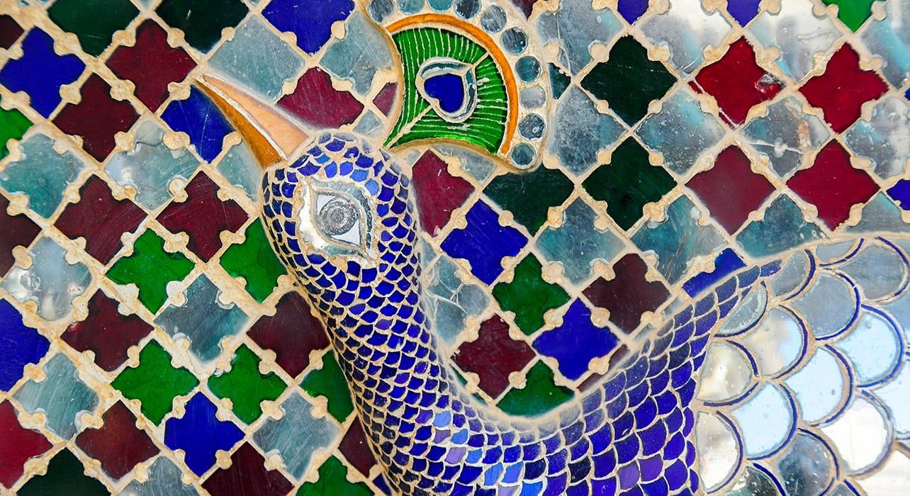 india rajasthan tiles peacock