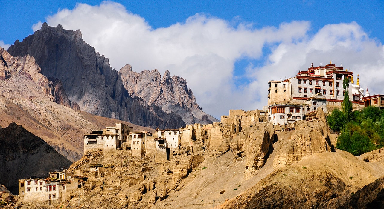 ladakh india monastery mountains