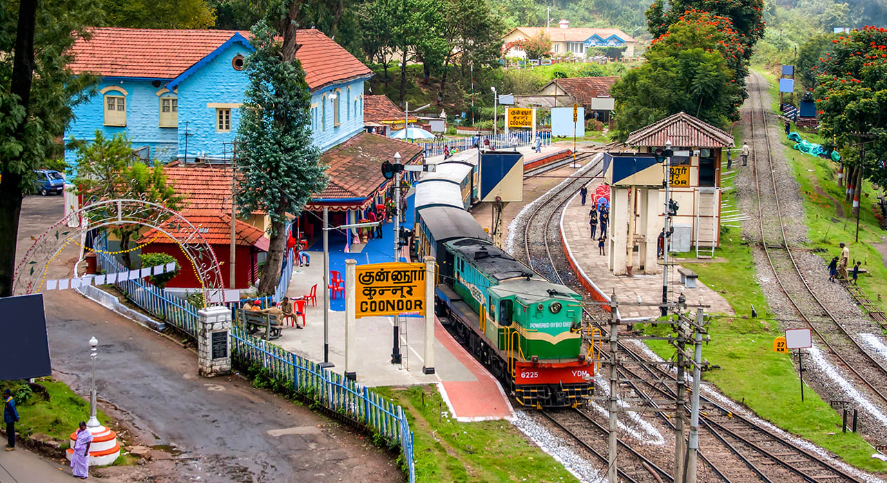 india coonoor station nilgiri mountain railway