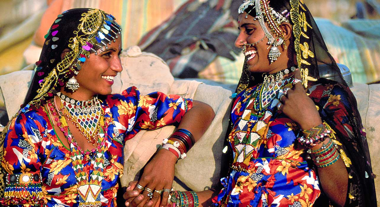 rajastan pushkar girls laugh