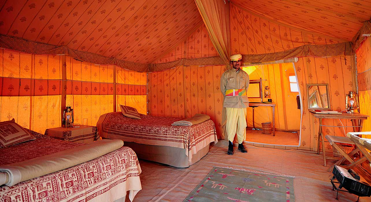 pushkar tent interior