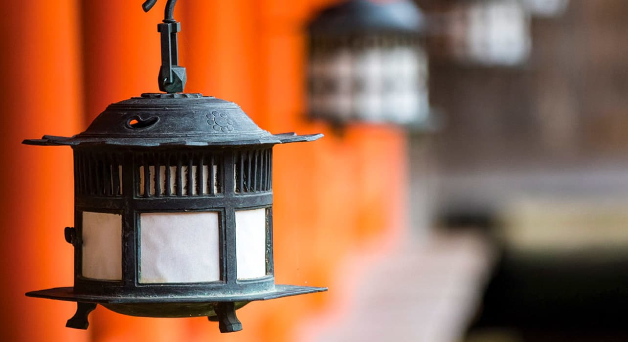 japan and south korea miyajima lanterns