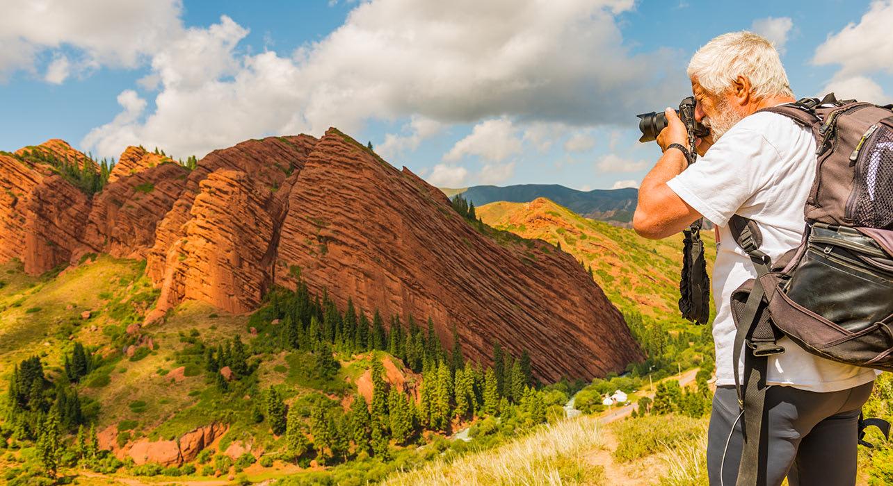 3 slide jeti oguz gorge in kyrgyzstan pano