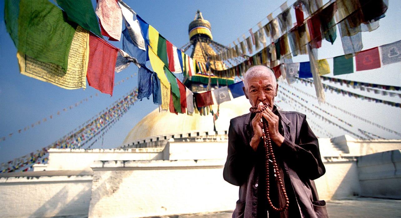 kathmandu nepal holy stupa prayer