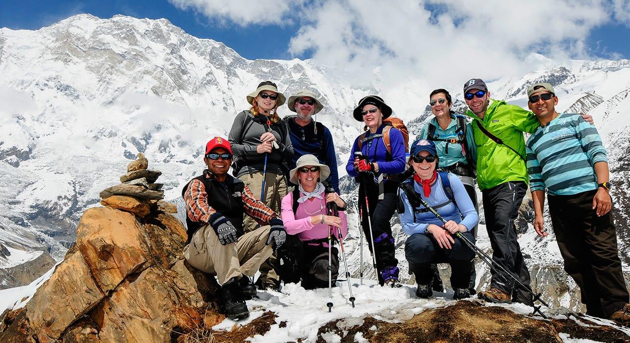 trek group happy nepal annapurna