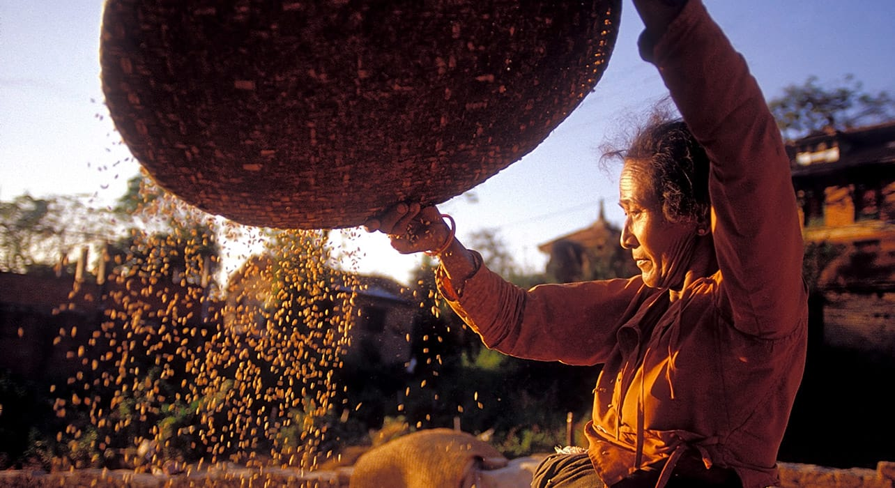 nepal farmer traditional