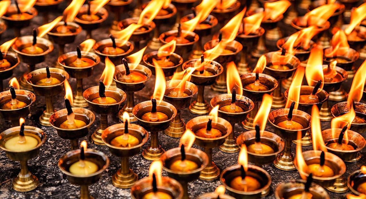 kathmandu nepal candles