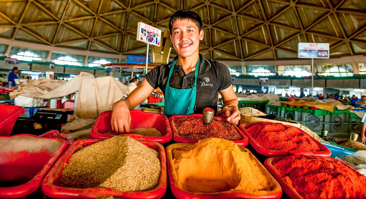 taste silk road tashkent uzbekistan spices market