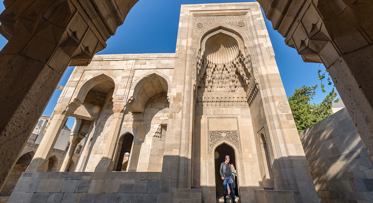 palace of the shirvanshahs baku azerbaijan