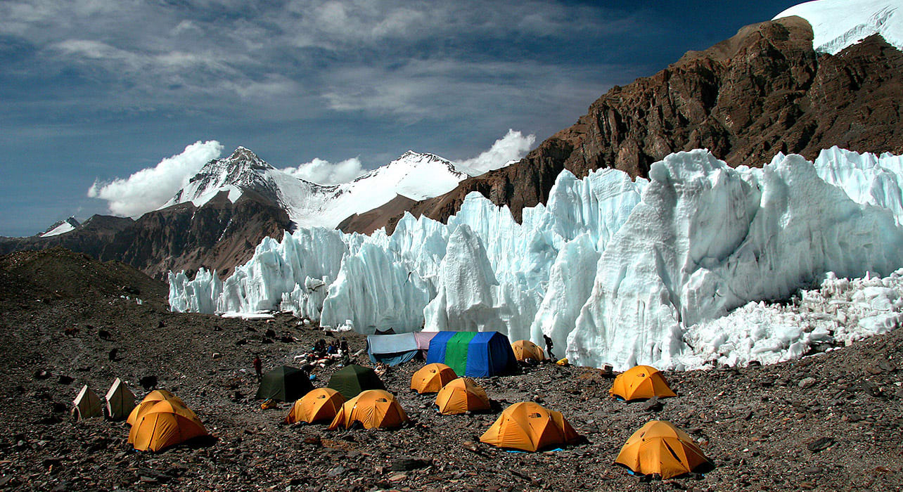 tibet high trek glacier camp