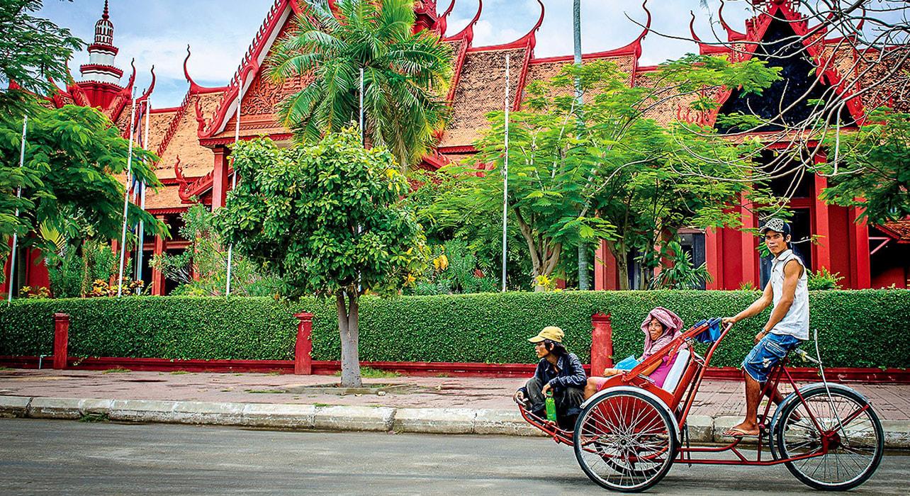 mekong phnom penh cambodia rickshaw natl museum
