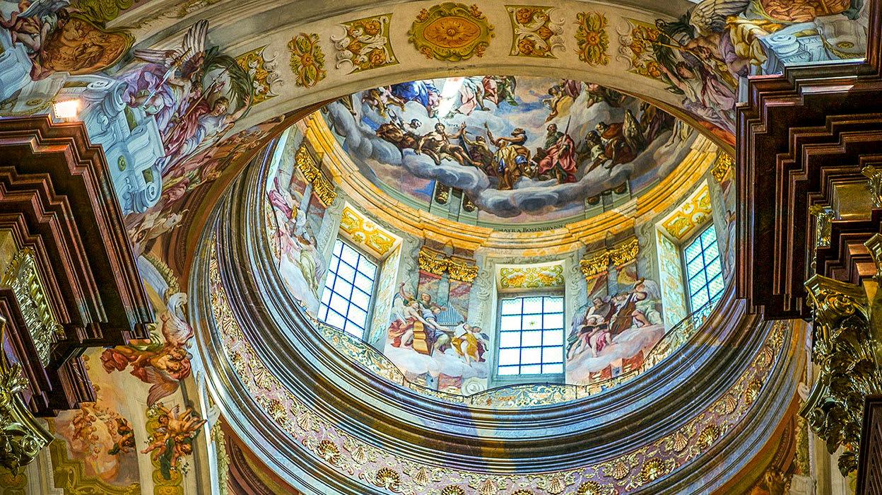 danube austria melk abbey ceiling