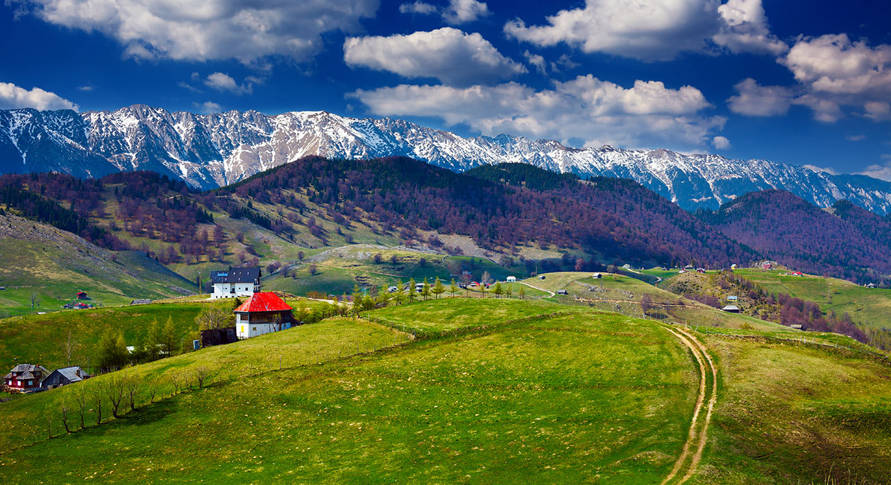 romania farm mountains