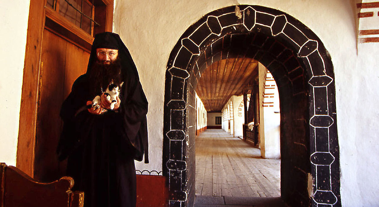 bulgaria traditional priest monastery
