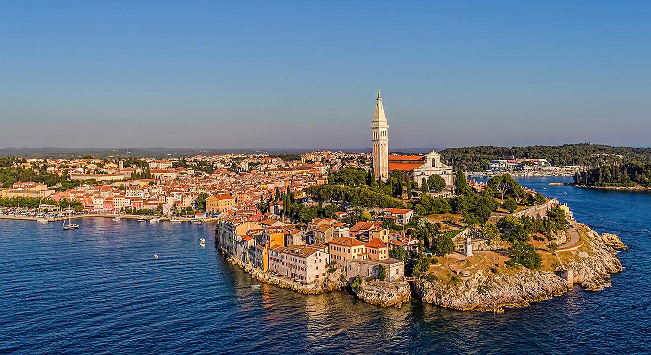 croatia coastline medieval hilltown dalmatian coast