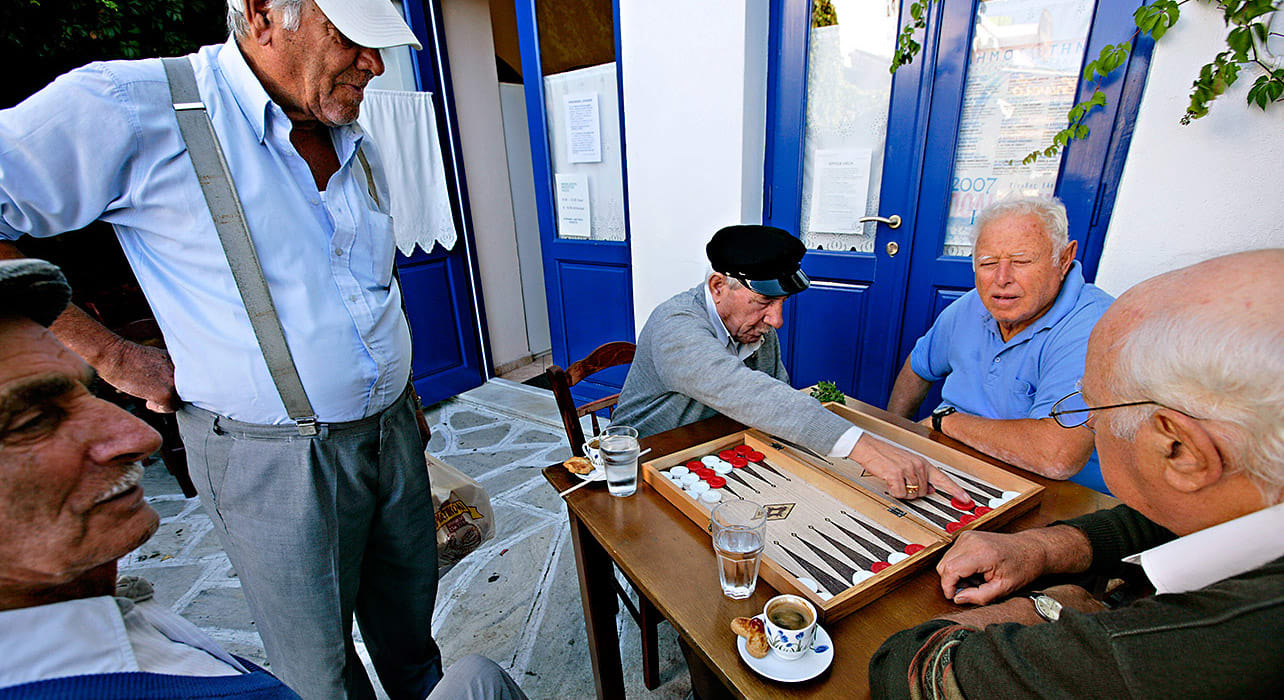 greece checkers game older men