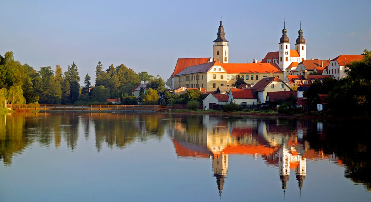 czech telc reflection lake