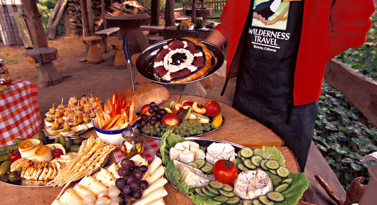 6 slide czech food picnic spread pano