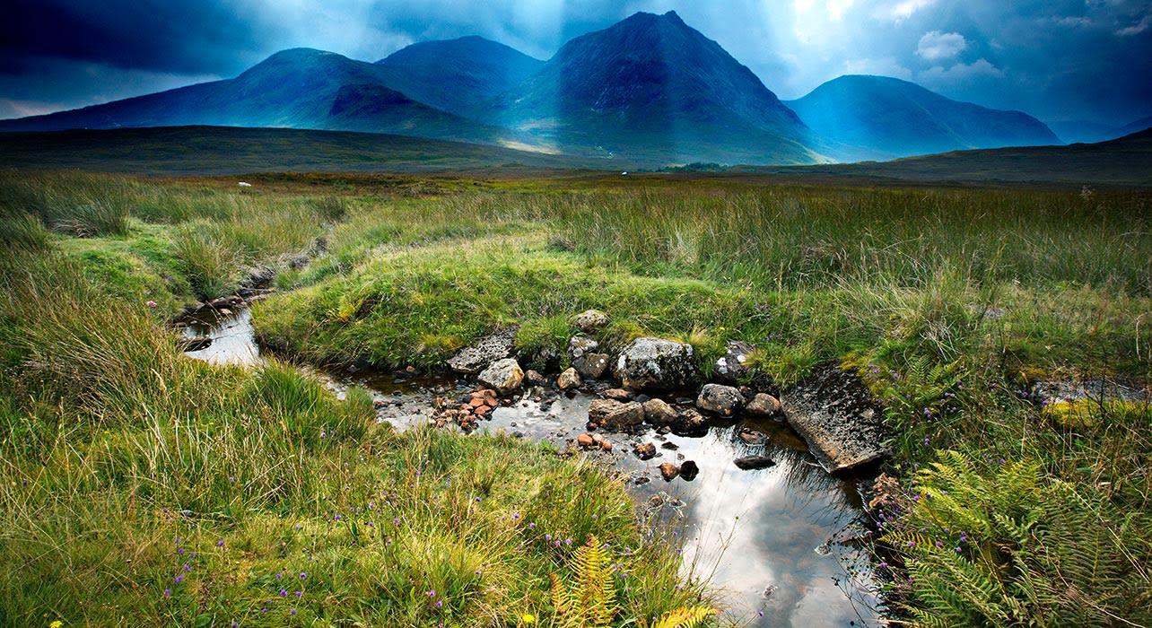 3 slide glencoe england stream hills pano