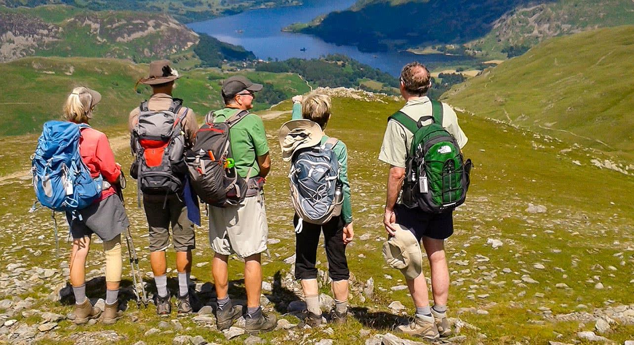 4 slide england ullswater hikers pano