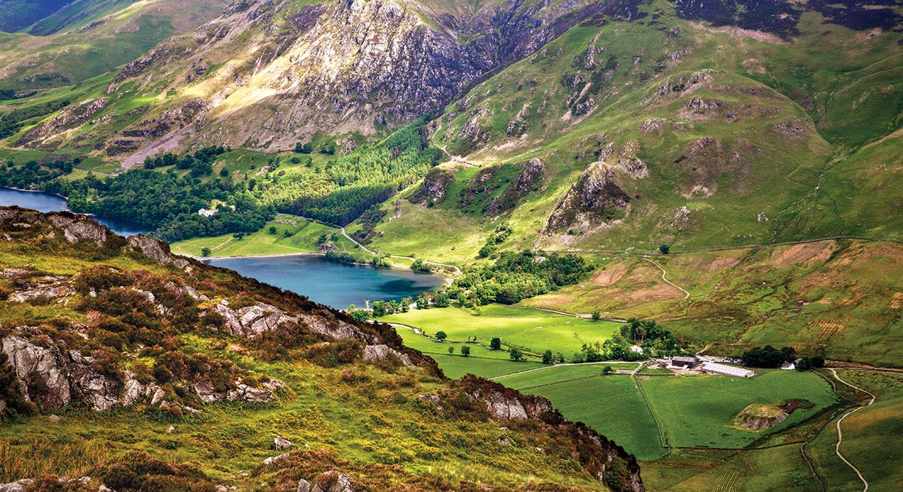 england lake district buttermere from haystacks