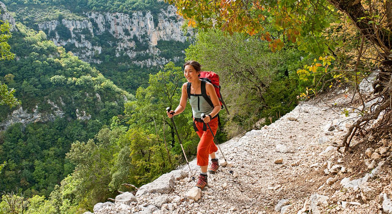 hiker provence france