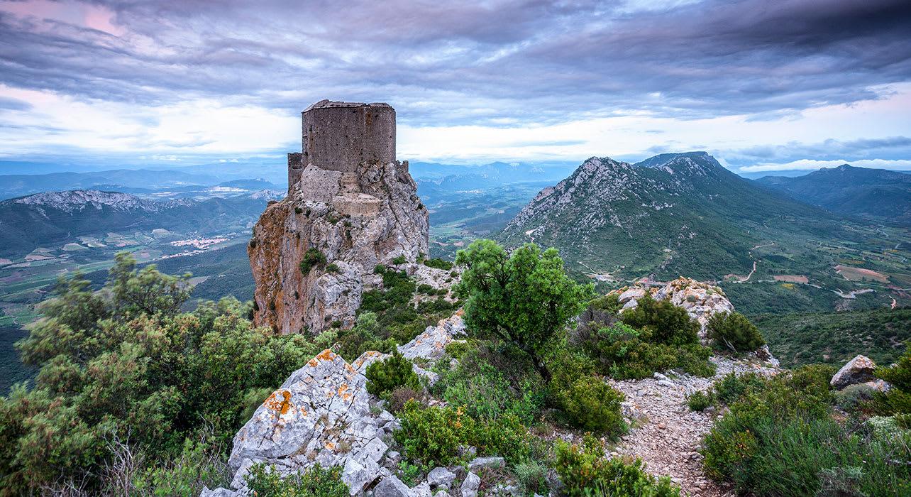 france ruin castle queribus