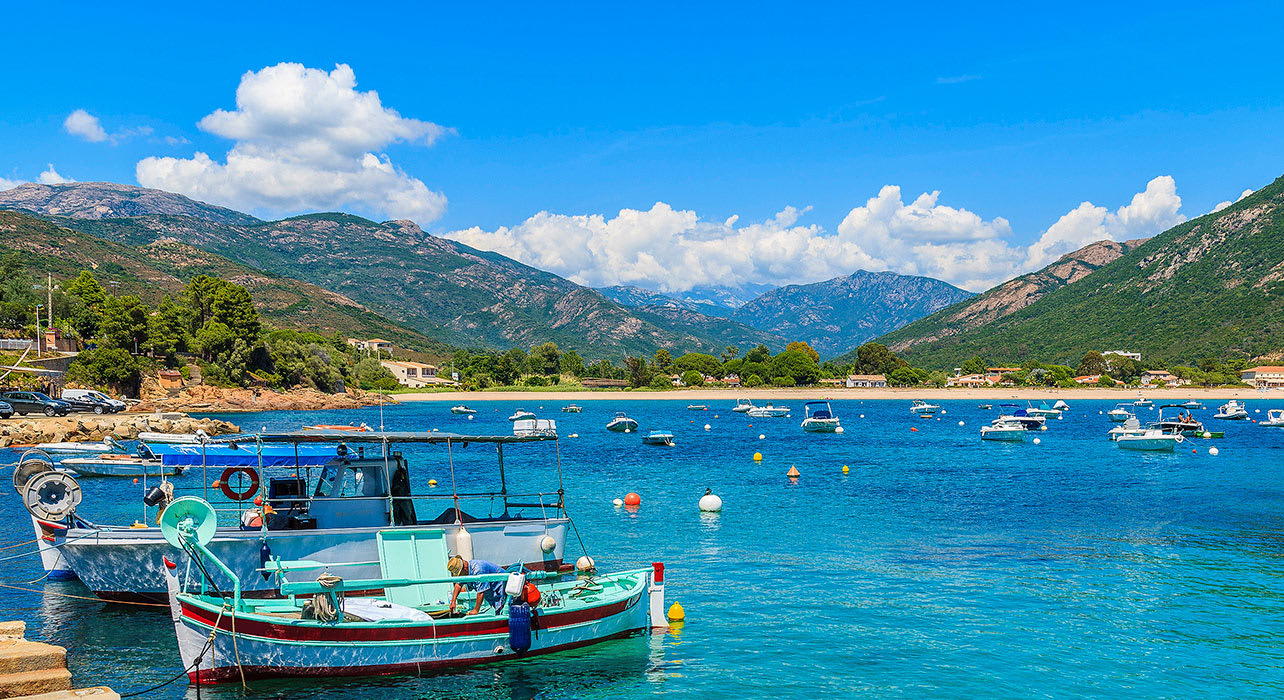southern corsica island near cargese town