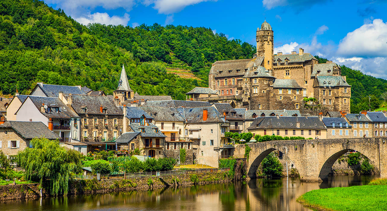france lot valley estaing river bridge