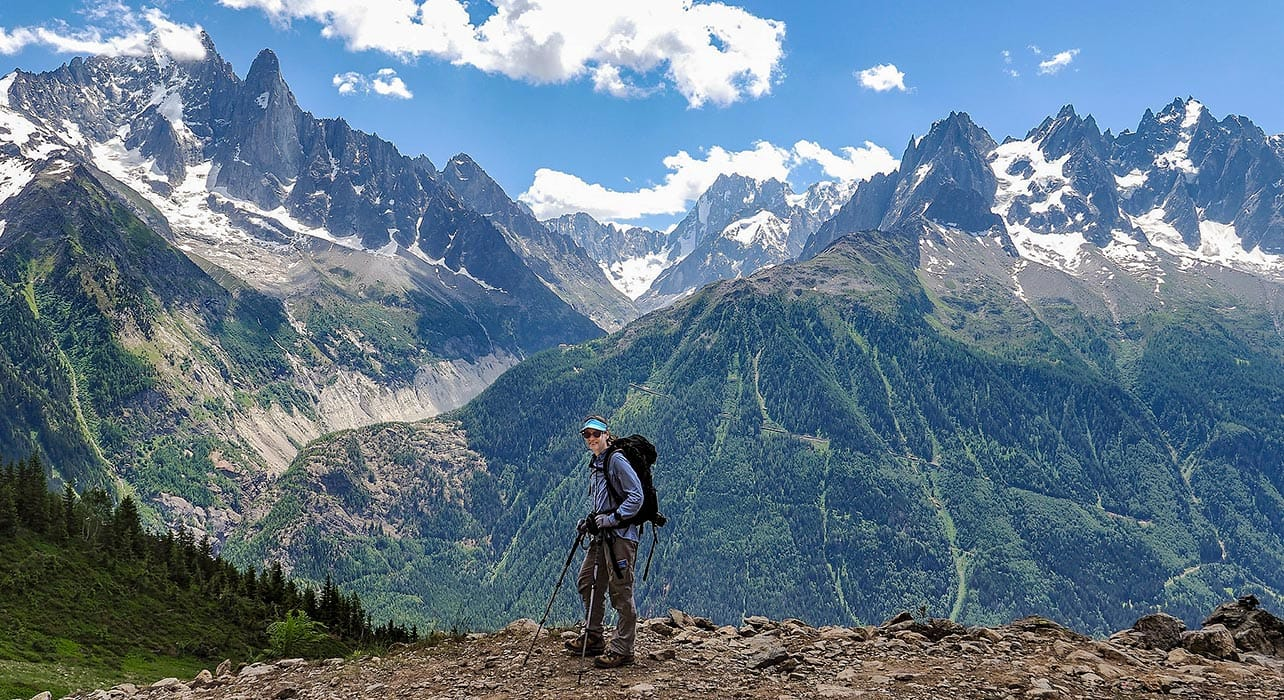 mt blanc to the med hiker mountains