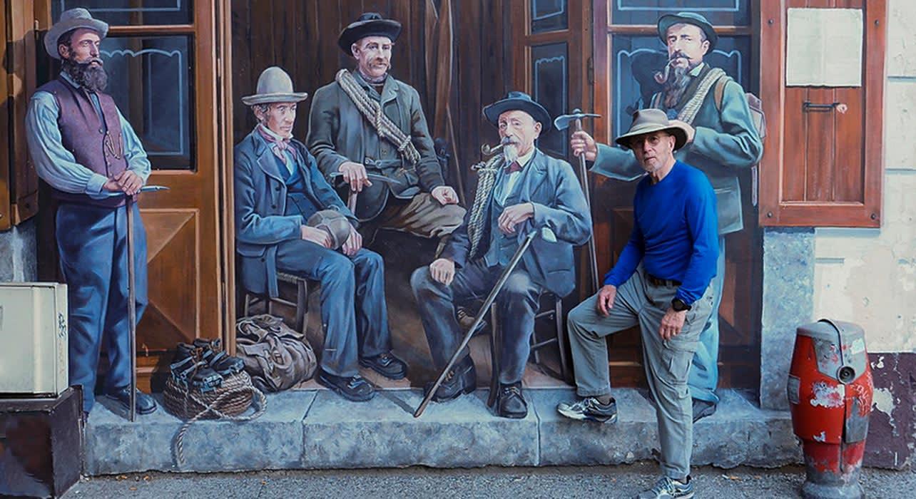 chamonix france mural historic client