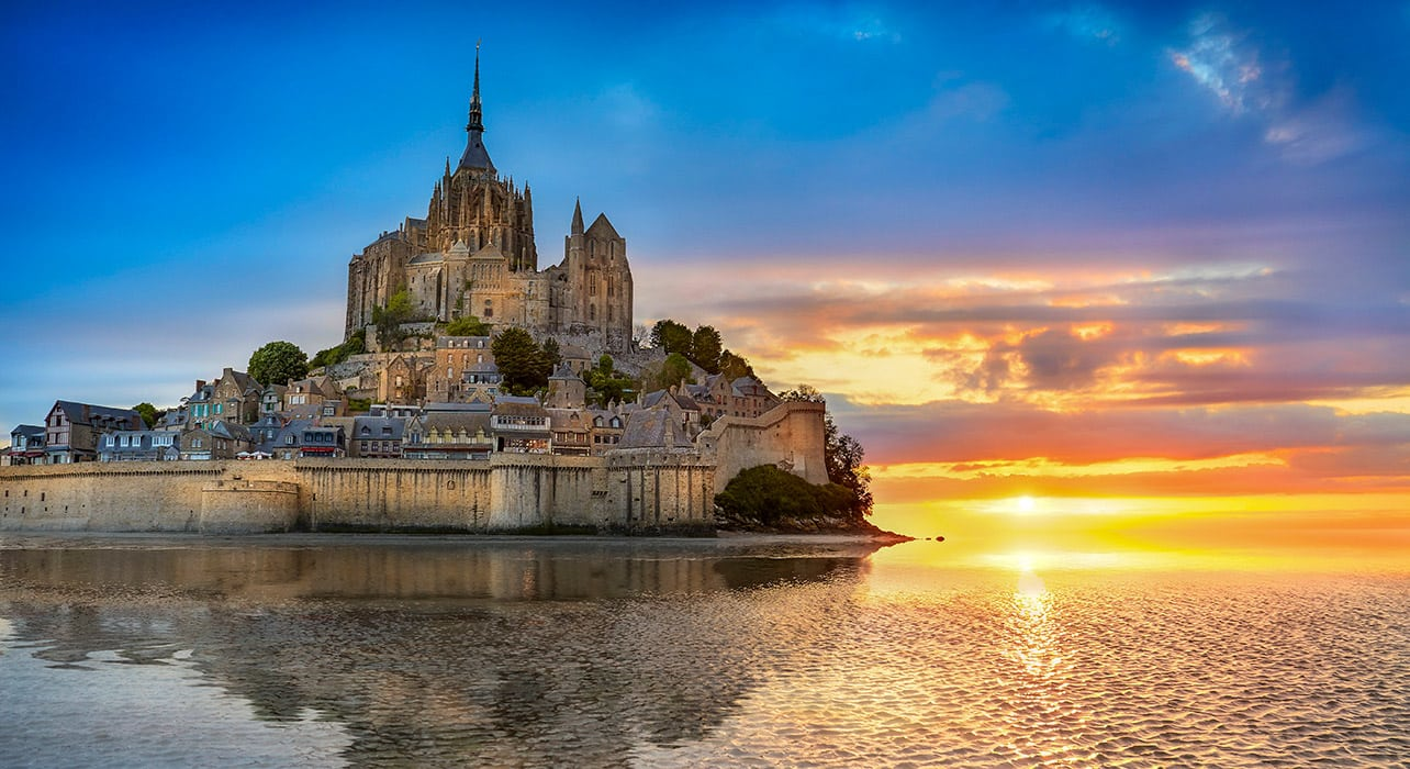 france normandy mont st michel