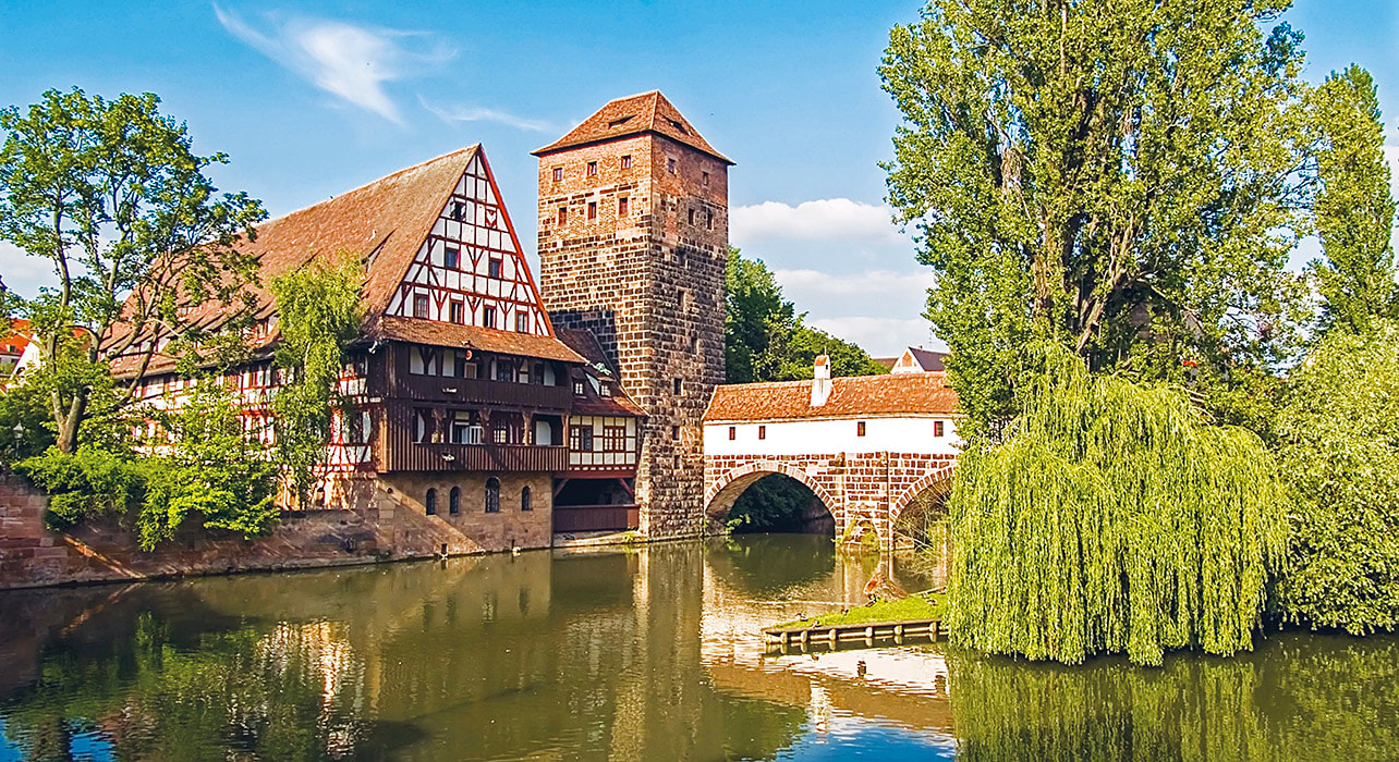 danube nuremberg germany traditional river bridge