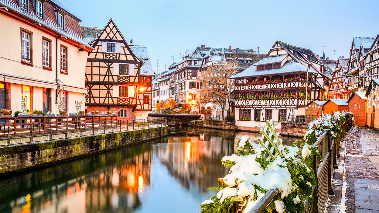 strasbourg france christmas winter