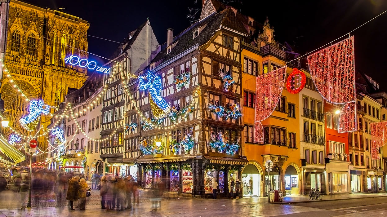 france strasbourg christmas lights market