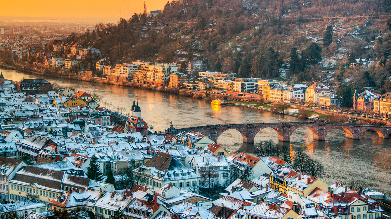 germany heidelberg river neckar winter