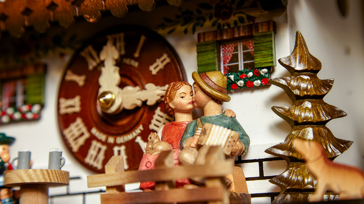 germany cuckoo clock detail