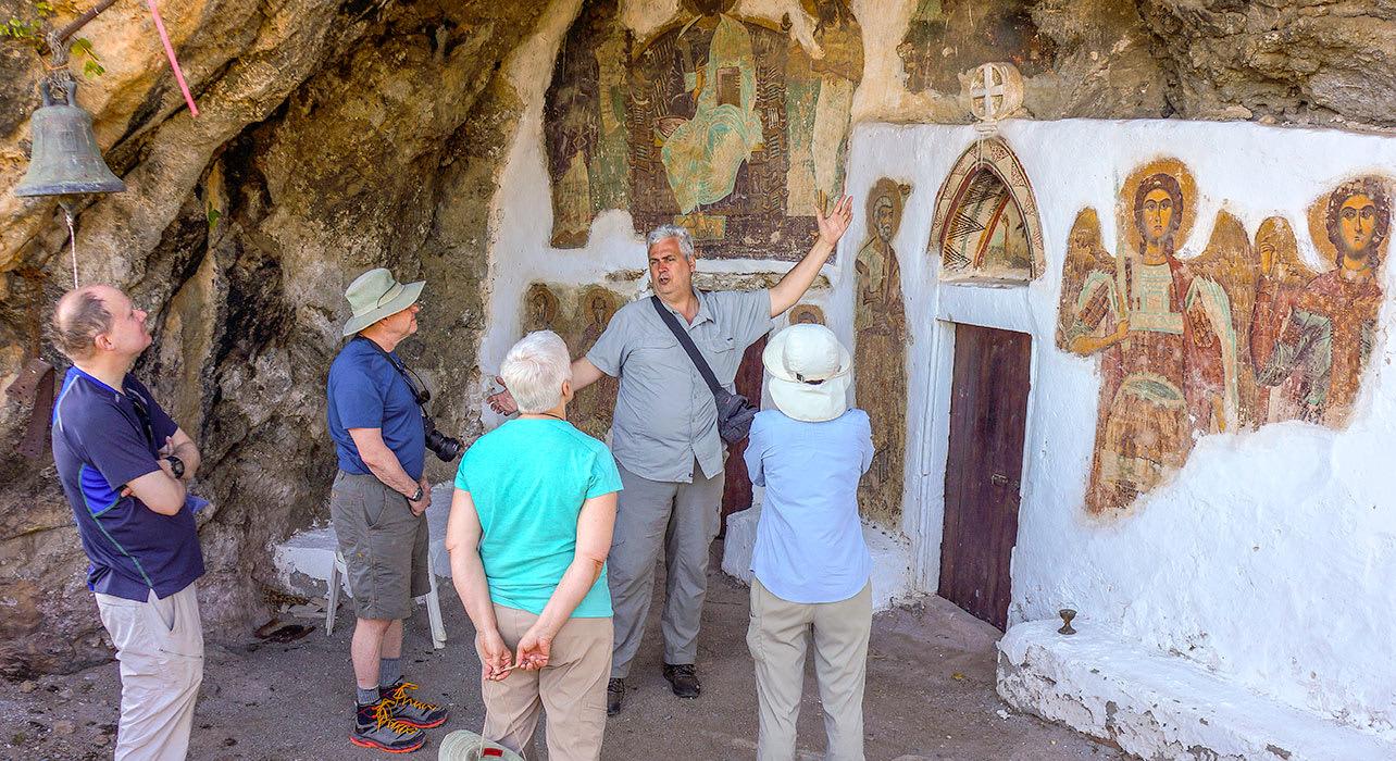 crete mural religious leader