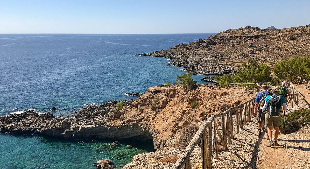 crete hiking shoreline